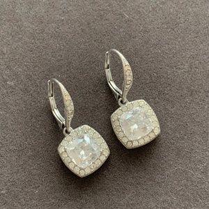 Nadri drop earrings crystal square